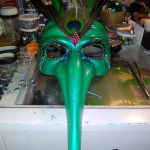 OOAK Masquerade Mask Hand Decorated